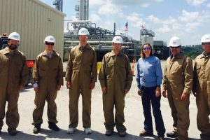 Gibbons Tours Natural Gas Plant in Washington County